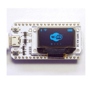 Wholesale ESP32 Bluetooth WIFI Kit Blue OLED inch Display Module CP2102 M Flash V V Internet Development Board for Arduino