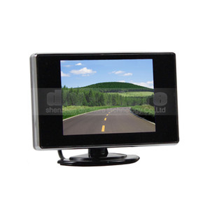 monitor 3,5 ltd tft venda por atacado-Monitor do Rearview do estacionamento do monitor do carro da monitor da opinião traseira de polegadas de TFT LCD com entrada de vídeo CH