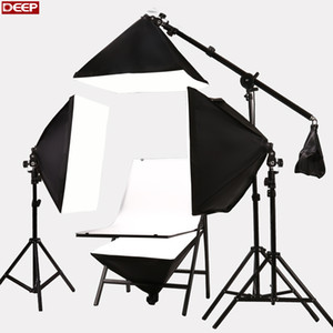 Wholesale Photo Studio kit Photographic Equipment Photography Table E27 w bulbs Softbox camera shooting table kit