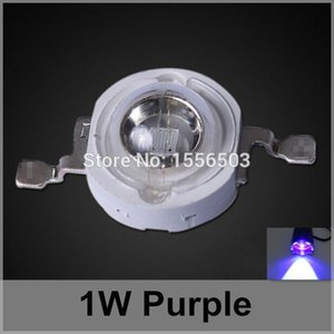 Wholesale 50 LED Chip Beads W Purple High Power LEDs Balls Purple Violet Light Source LED Lamp Emitting Diode