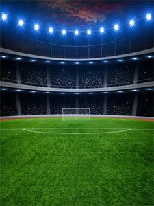 Wholesale football photos resale online - Football Field Backgrounds for Photo Studio Flash Bulb Green Grass Floor Children Kids Photography Backdrops Party Sport Game Props