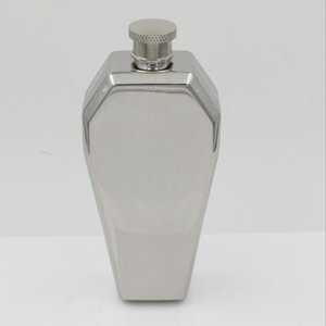Wholesale alcohol silver bottle for sale - Group buy Hexagonal oz Hip Flask Funnel Silver Jesus church cosplay Drinkware wine pot Bottle ml Alcohol Flasks Whiskey Liquor flask flagon