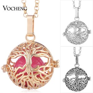 Baby Chime Necklace for Women Tree of Life Pendant Copper Metal 3 Colors Plated with Stainless Steel Chain VA-252