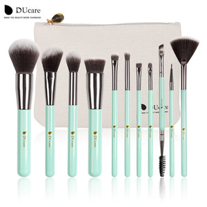 Wholesale hair mint for sale - Group buy Ducare Makeup Brushes Kit Set Powder Foundation Eyeshadow Eyeliner Lip Brush Tool Mint Green Soft Synthetic Hair