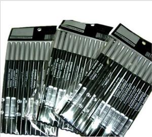 Free shipping 12PCS PENCIL MAKEUP BLACK COLOR EYELINER LIPLINER