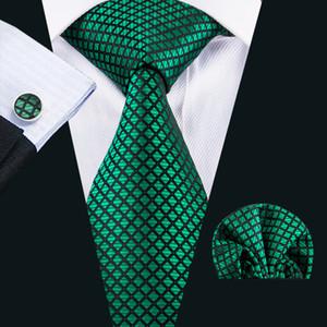 Fast Shipping Neckties Blue Cheap Fashion Luxurious Mens Tie Silk Necktie Pocket Square Cufflinks Set for Men Business Wedding Party N-1608