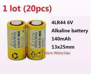 Wholesale batteries 6v resale online - 20pcs LR44 A A76 A544 V4034PX PX28A L1325 V dry alkaline battery Volt Batteries