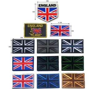 Wholesale British English national UK flag Union Jack flag patch hook back combat military tactical morale for jacket vesy