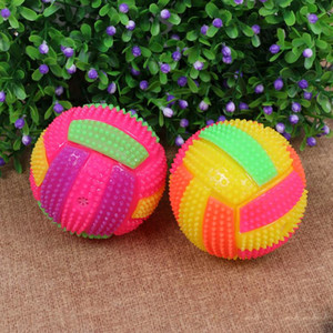 Wholesale Volleyball flash light emitting bouncing ball bouncing ball with a whistle function emitting toys stall selling supply