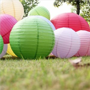 Wholesale 16 quot cm Big Size Chinese paper lantern round lamp Wedding Decor Ball festival decoration hanging Lamps party supplies