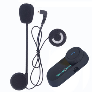 ingrosso cuffie radio per caschi da moto-FREEDCONN PZ BT Bluetooth Motorcycle Casco System System Sistema interfono wireless Interphone m Cavalieri Auricolare interfono con radio FM