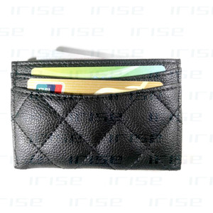 Wholesale Fashion brand patent matte leather card case luxury business ID bank card bag coin purse cover designer tote clutch bag boutique VIP gift