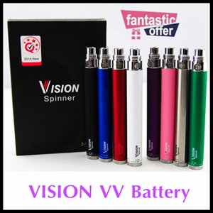 Wholesale spinner battery e cigs resale online - Vision spinner Vaporizer battery twist VV thread vison spinners E Cigs Electronic Cigarettes eGo atomizer Retail Package