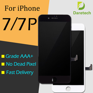 Wholesale Grade A +++ LCD Display Touch Digitizer Frame Assembly Repair For iPhone 7 7 Plus free DHL shipping