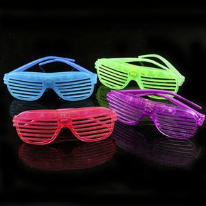 Halloween Prop Glow Sunglass Shutter Shades LED Light Glass Free Size For Party Club Festival Wear
