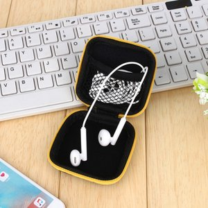 Wholesale Headphones Organizer Bags Earphone Cable Earbuds Storage Bags Hard Organizador Case Carrying Pouch Bag SD Card Hold Box