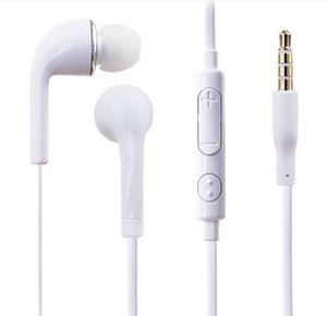 Chearp Earbuds mic white black In-ear wired earphone with microphone voice control for Samsung iPhone LG mobile phones 3.5mm Headset