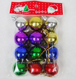 Wholesale chrismas decoration tree resale online - Christmas gifts Christmas plating ball for Chrismas decoration pendant diameters cm mixed color shining ball Festive Party Supplies
