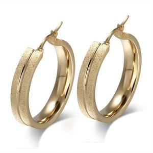 Wholesale Meaeguet Brand Design New Fashion Hoop Earrings Female Jewelry Big Stainless Steel Elegant Ear Gifts EH
