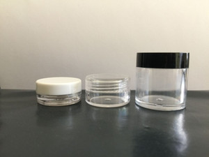 Wholesale 3ML ML ML Clear Empty Jar Cosmetic Plastic Round Bottle Pot For Make Up Eye Shadow Nails Powder Container Gram Size