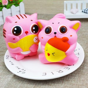 Wholesale Newest Eat Fish Cat Jumbo Kawaii Squishies Slow Rising Soft Scented Toys Squishy Kids Adult Gifts