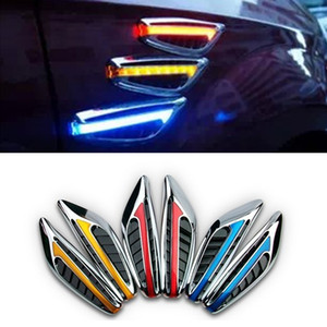 Free shipping 2pcs set car Side Lamps car models turn signal safty lamps side turn signal light indicator Blade Shape Fender LED safety lamp on Sale