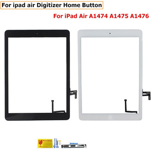 Wholesale Front Glass For iPad Air Mini Touch Screen Digitizer Flex Cable Home Button Assembly With Adhesive
