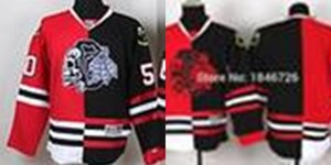 Wholesale Factory Outlet Chicago Blackhawks Personalized Customized Jerseys With Your Name and Number custom stitched split red skulls Ice Hockey jer
