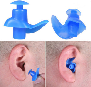 Wholesale 1 pair Durable Soft Silicone Ear Plugs Ear Protector Earplug adult men and women swimming waterproof spiral earplugs With Box Multicolor