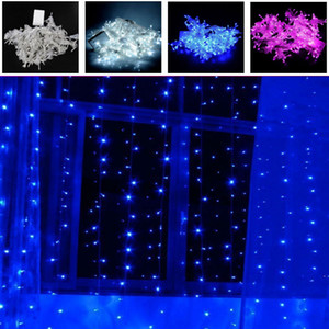 Wholesale 3m m LEDs lights flashing lane LED String lamps curtain Christmas home garden festival lights Web V EU UK V US Plug ZJ0259
