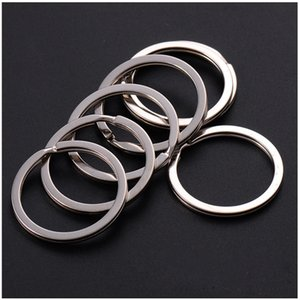 Wholesale 35mm DIY Key Rings Stainless Steel Keyrings for Jewelry DIY accessories Silver Bands for Sale