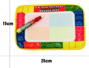 Wholesale 29x19cm Baby Kid Water Drawing Mat with Magic Pen Aqua Doodle Child Painting Learning Coloring Writting Board
