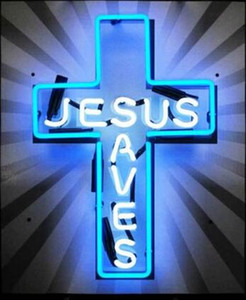 Wholesale Jesus Saves Christian Cross Neon Sign Light Custom Handmade Real Glass Tube Pub KTV Bar Motel Store Display Neon Signs quot X17 quot