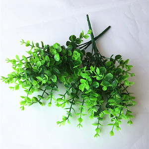 Wholesale Hot New Green Branches Artificial Fake Floral Plastic Eucalyptus Plant Flowers Cafe Office Home Room Decorative fake flowers