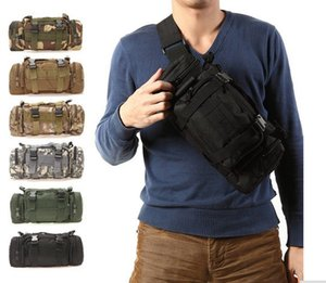 Wholesale Outdoor Military Tactical Waist Pack L Waterproof Oxford Molle Camping Hiking Pouch Backpack Bag Waist Bags mochila militar