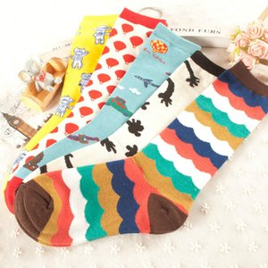 Wholesale Travel Series Graphic Socks Rainbow Outer Space Air Balloon Sword In Tube Women Or Men Cotton Sock Colorful Couple Long Sox