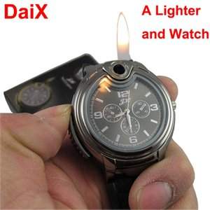 Creative Watch lighter refillable metal butane gas cigar cigarette Match Fire Starter Survival Tool Kit Camping Outdoor Striker Lighters