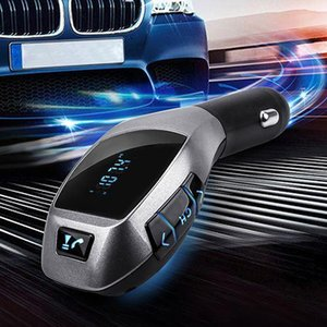 Wholesale 2015 New Bluetooth Car Kit Mp3 Player FM Transmitter X5 USB TF Charger Hands Wireless PAG