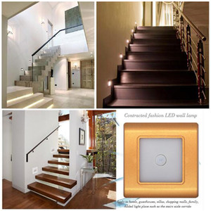 Wholesale recessed wall night light for sale - Group buy 2 W Wall Recessed LED Human Body Light Sensor Control Intelligent Induction Led Ground Footlight Stair Step Night Lamps