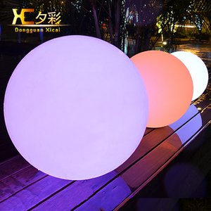 Wholesale cm Rechargeable Cordless Outdoor LED Lighted Lawn Ball Color Changing Plastic Remote Control Sphere