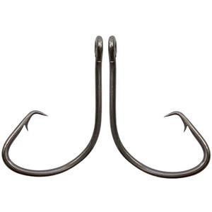 100pcs 7381 High Carbon Steel fishhooks Black Offset Sport Circle Bait Fishing Hook bass barbed hooks