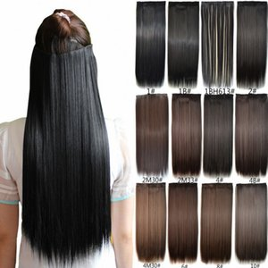 Wholesale Sara Women Long Clip In Straight Hair Extension Fashion Synthetic Straight Hair Piece Extensions Hairpiece 60CM,24""