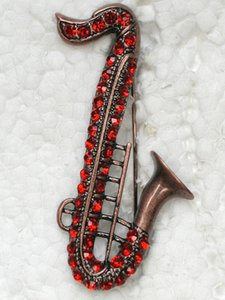 Wholesale winds instrument for sale - Group buy Fashion Brooch Rhinestone Wind Instruments Pin brooches Jewelry Gift C101244