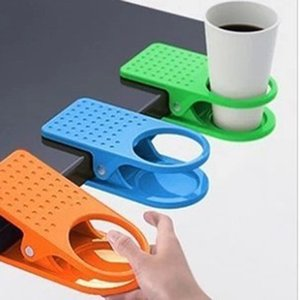 Wholesale Table Glass Water Cups Clip Drinklip Cup Holder Glass Holder Mug Office Tumblerful Glass Clamp Free Shipping