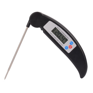 free shipping Folding probe barbecue grill thermometer kitchen food electronic food thermometer