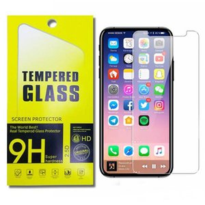 Wholesale Tempered Glass Film Explosion Proof Screen Protector for iphone X G G PLUS S S with paper retail package