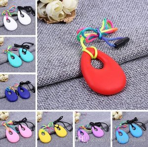 2017 Silicone Long Necklace Baby Teether Toys Food Grade Soft Teething BPA Free Toddler Infant Tooth Training Chewing Molars Massager