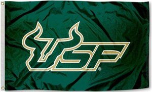 Wholesale University of South Florida Bulls Flag USF Flag CM CM FT Polyester Custom Banner Sports Flag p1