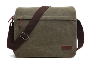 Wholesale Hotsale casual canvas messenger bags Mens Laptop bag Crossbody bag Ipad canvas day packs for young men new hotsale