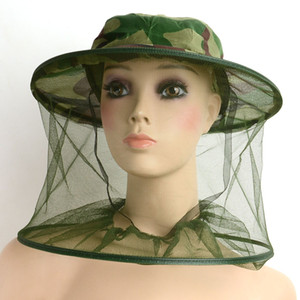Mosquito Bug Insect Bee Resistance Sun Net Mesh Head Face Protectors Hat Cap Cover for Men Women Outdoor Fishing Hunting Camping